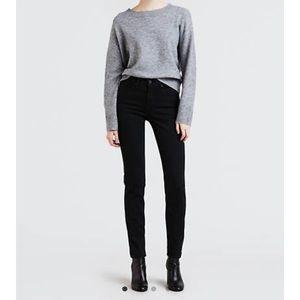 SOLD • Levi's 312 Shaping Slim Jean in Soft Black
